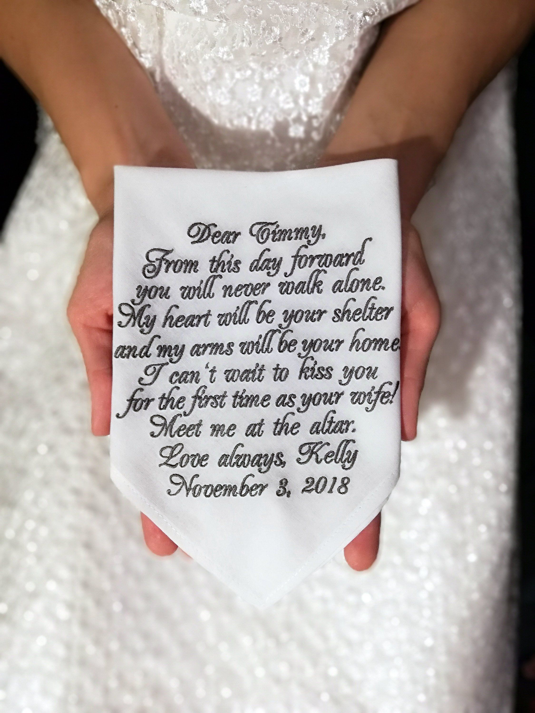 To My Dad On My Wedding Day Bridal Gift Keepsake Handkerchief Verse Hankie