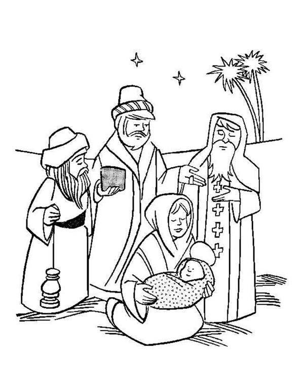 Baby Jesus Three Wise Men Christmas In Baby Jesus Nativity Coloring Page Nativity Coloring Pages Jesus Coloring Pages Coloring Pages