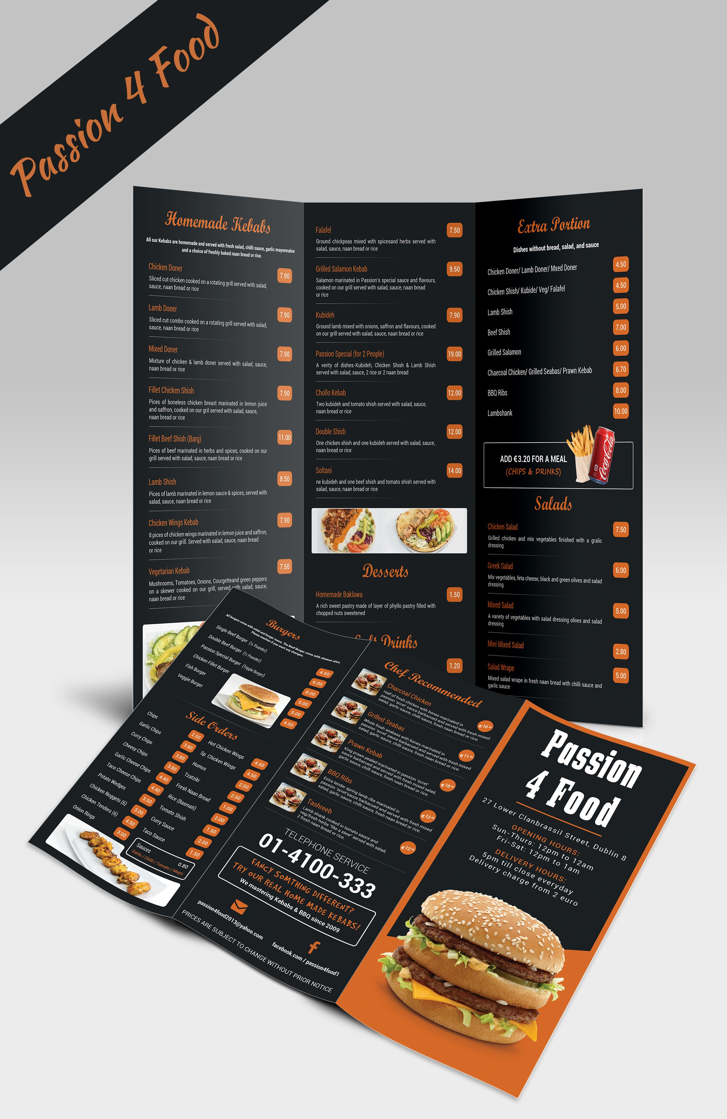 Take Away Menu Design Menu Design Food Logo Design Creative