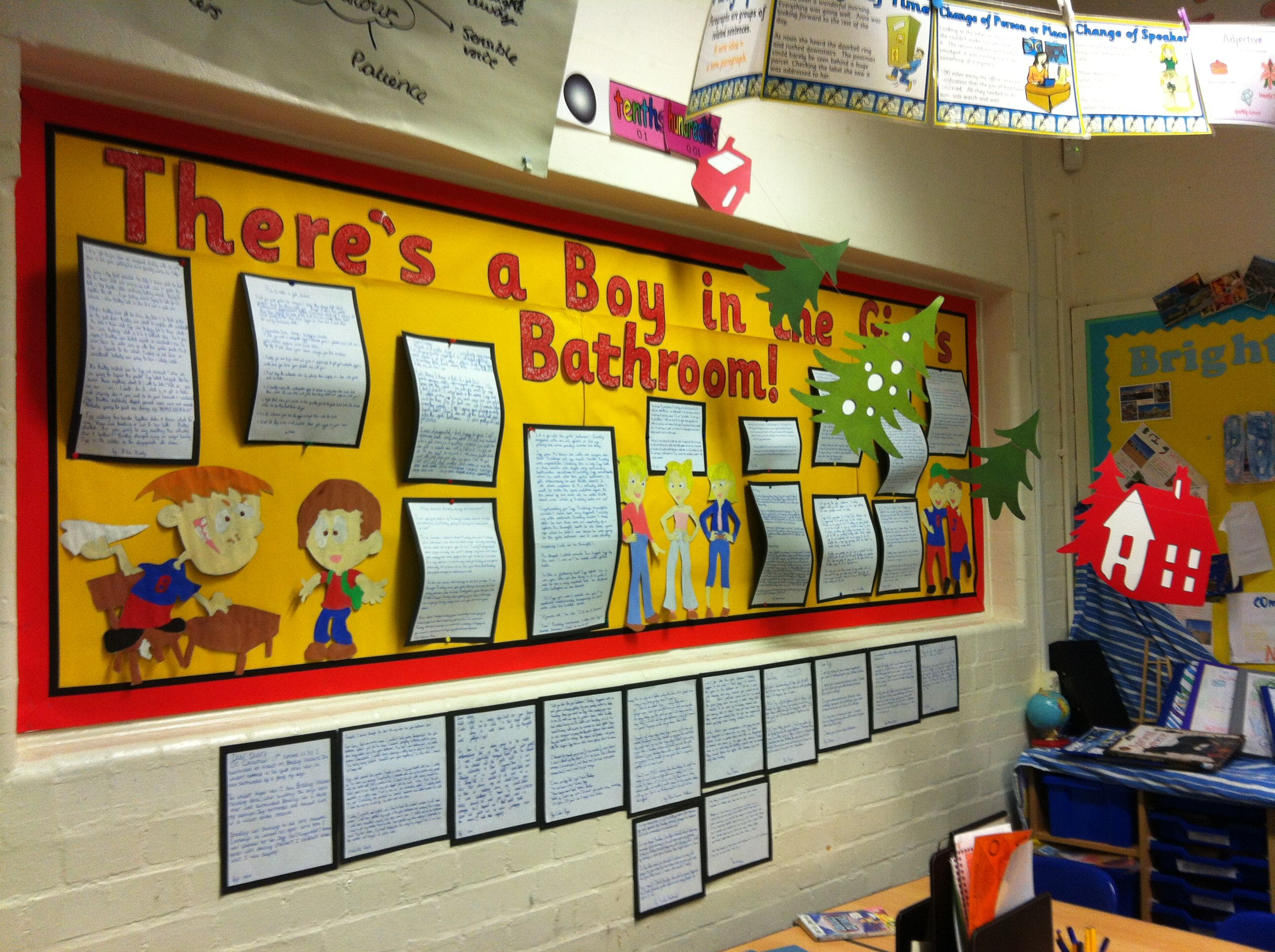 There S A Boy In The Girls Bathroom Classroom Display Girls Bathroom Classroom Displays Small Bathroom Colors