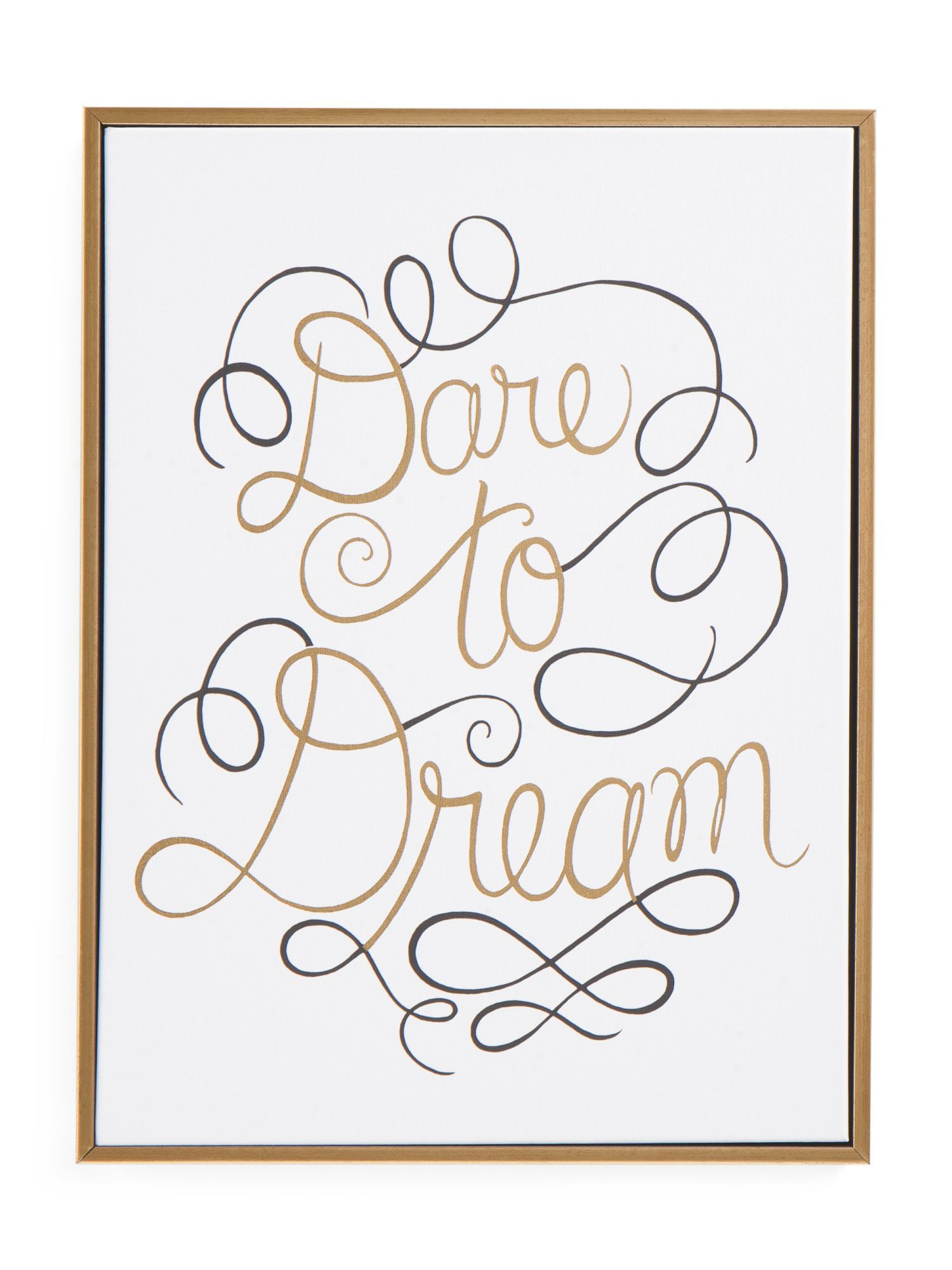 X dare to dream canvas wall art products pinterest