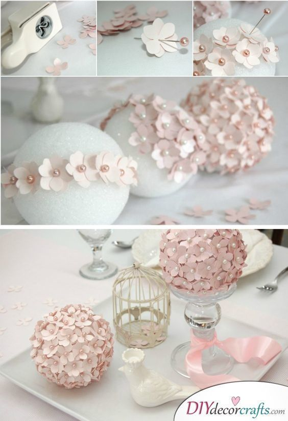 Balls of Flowers  Another great DIY idea for wedding decorations