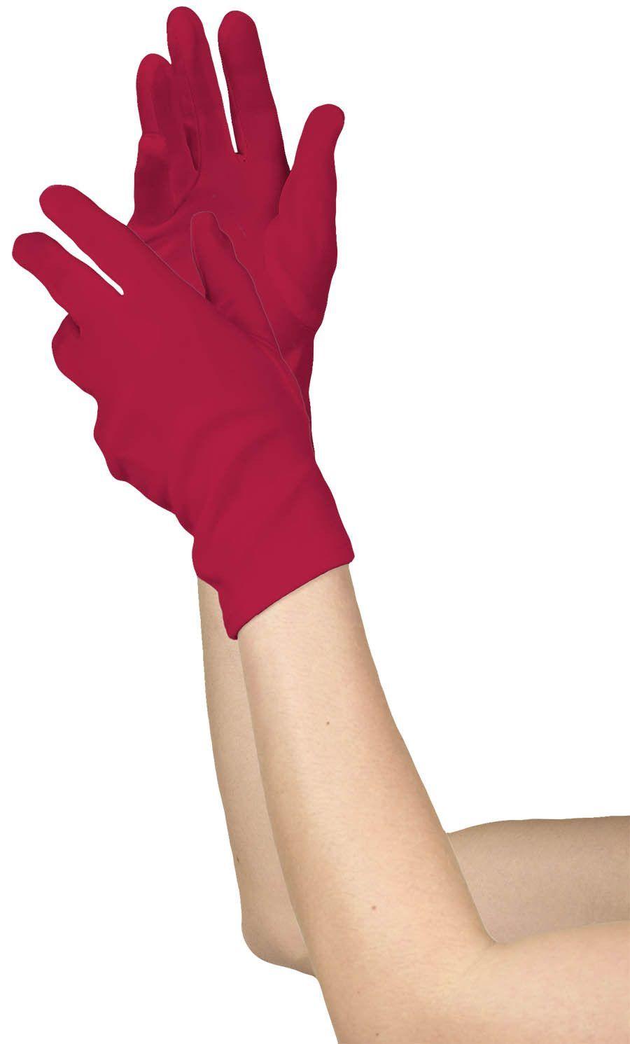 Short Red Glove