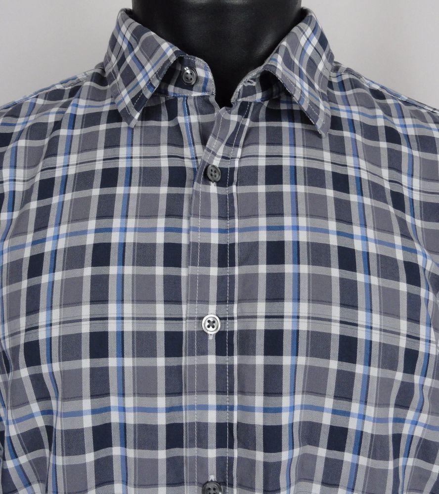 Boss Hugo Boss Men's XL Regular Fit Lukas Plaid Long Sleeve Dress Shirt  Button #HUGOBOSS