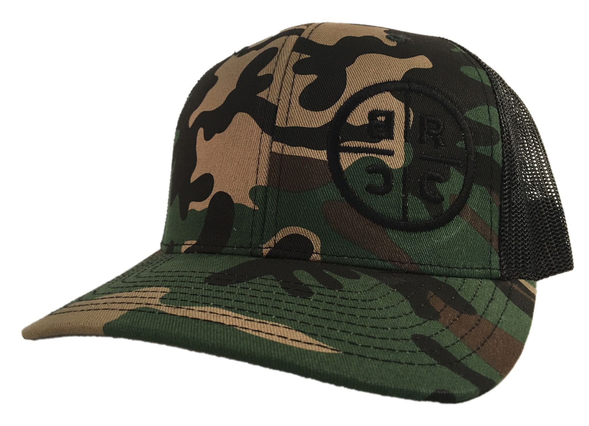 c67a5e57af6ca BRCC Circle Logo Trucker Hat - Black w Black Mesh