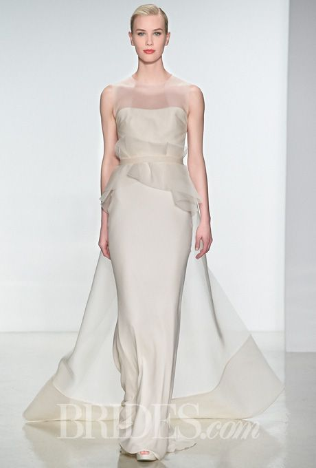 Amsale - Spring 2015 | Silk organza, Wedding dress and Illusions