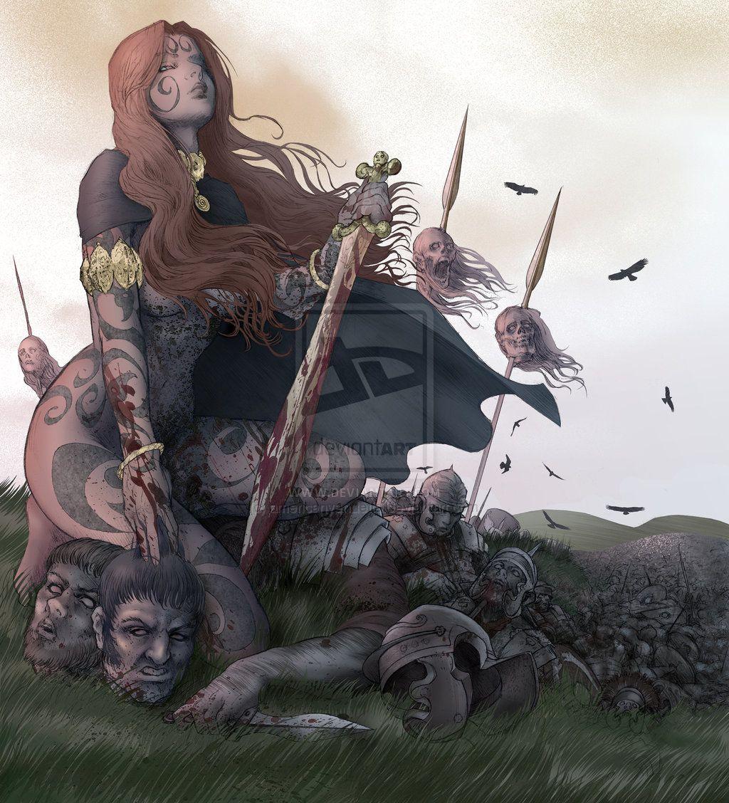 "Warriors:  ""Celtic Warrior Queen,"" by americanvendetta, at deviantART."