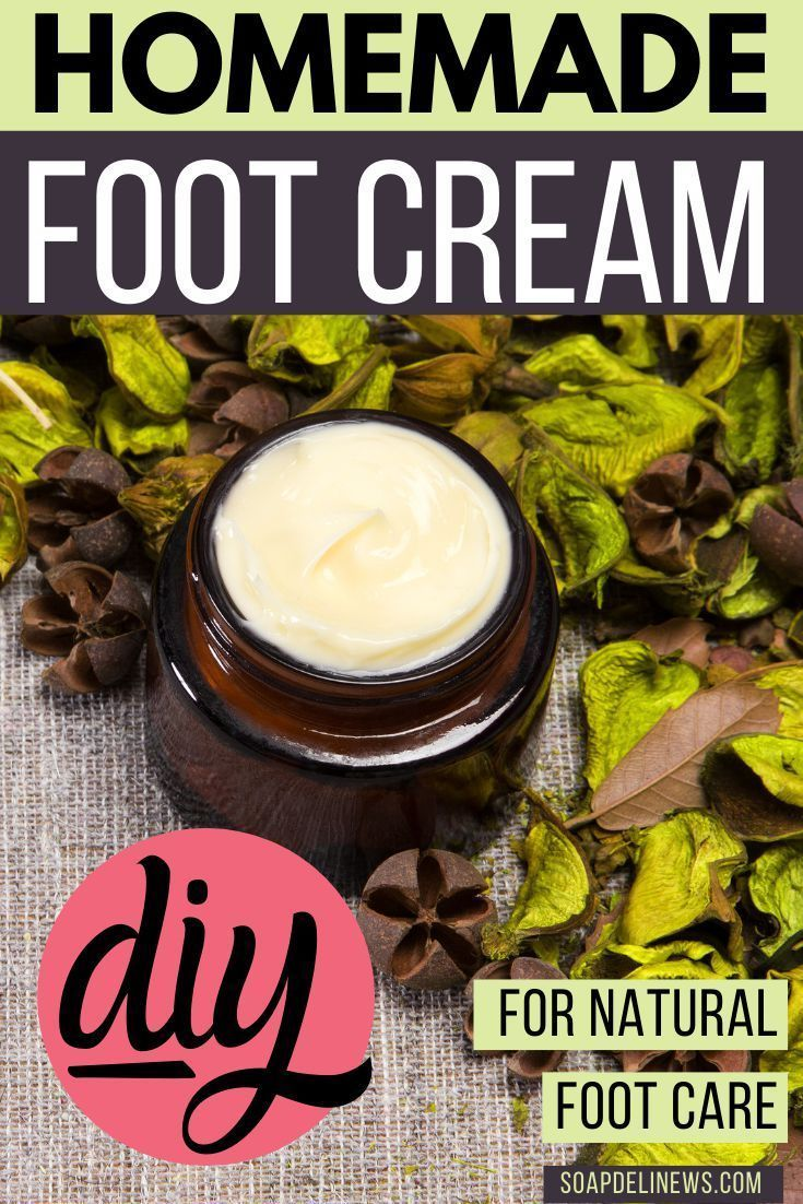 Lavender Peppermint Foot Cream Recipe With Essential Oils In