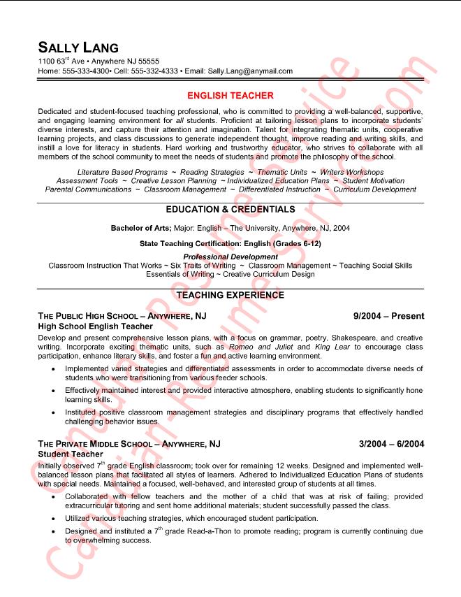 Pin By Hamdy Abdelrahman On Education Teacher Resume Examples Teacher Resume Teaching Resume