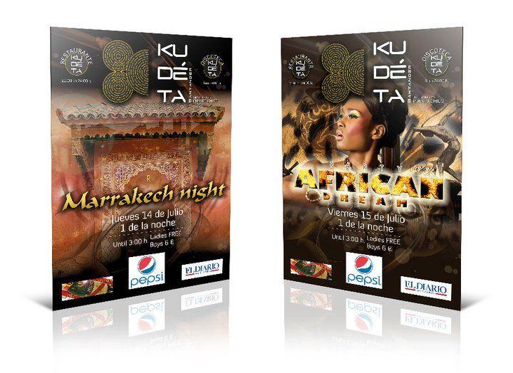 Cartel Kudéta Santander. Marrackech & Africa Dream Party.