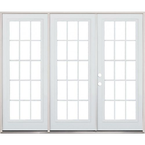 8 0 Wide 15 Lite Steel Patio Triple Door French Unit Exterior Kitchen Doors Discount Interior Doors Cheap Patio Doors