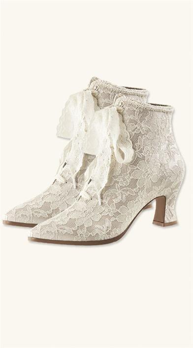 Victorian White Lace Boots - Victorian Trading Co.  16deb381cc78