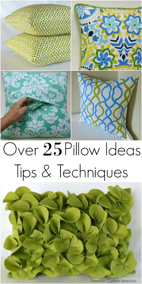 How To Make Pillows Sewing projects Change and Pillows