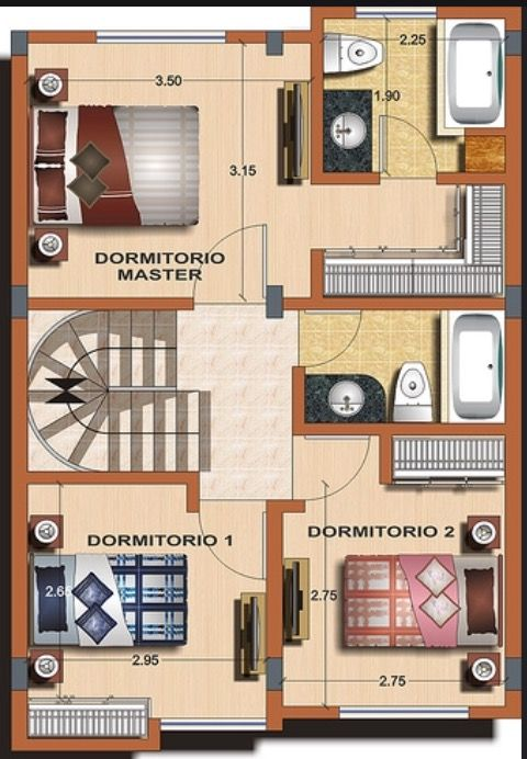 Casa Tipo B Planta 1 House Layout Plans Small House Plans House Design