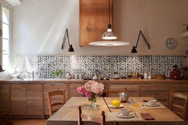 Azulejos de cocina en blanco, diseño italiano Interiors, Kitchens