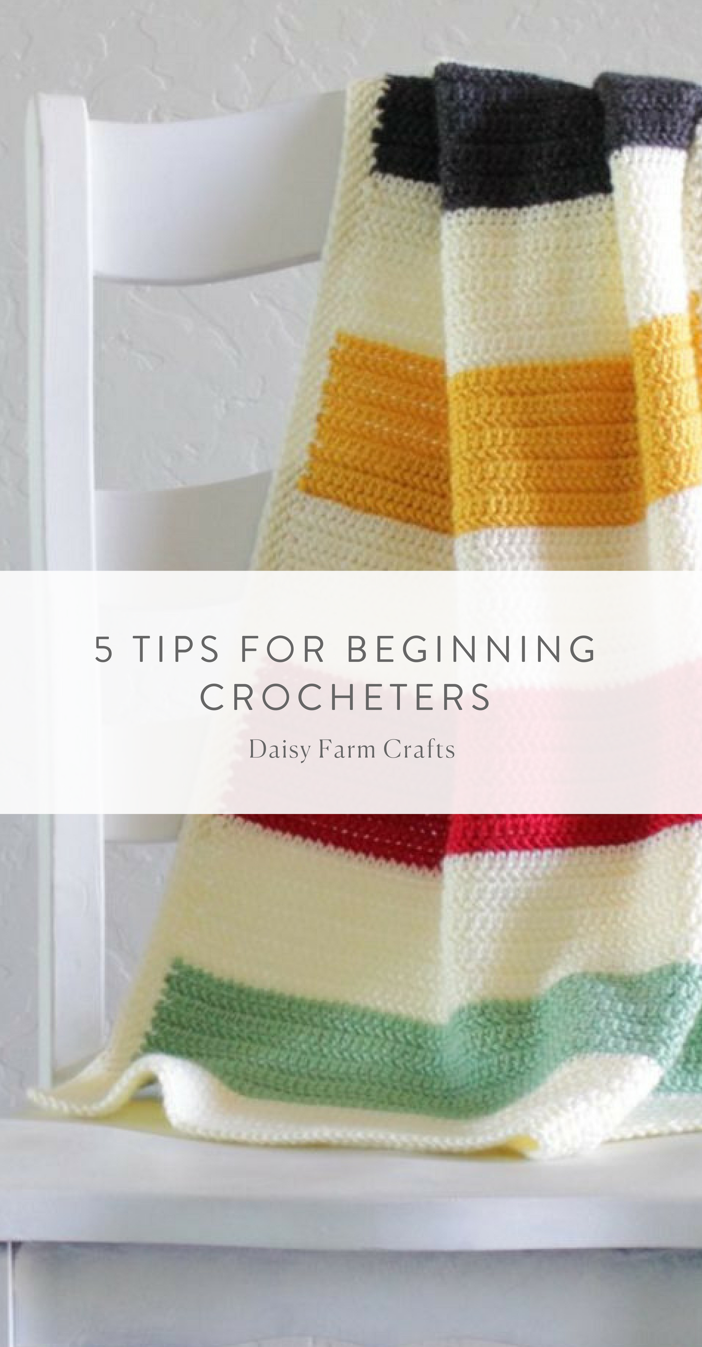 5 Tips for Beginning Crocheters | Crochet | Pinterest | Cobija ...