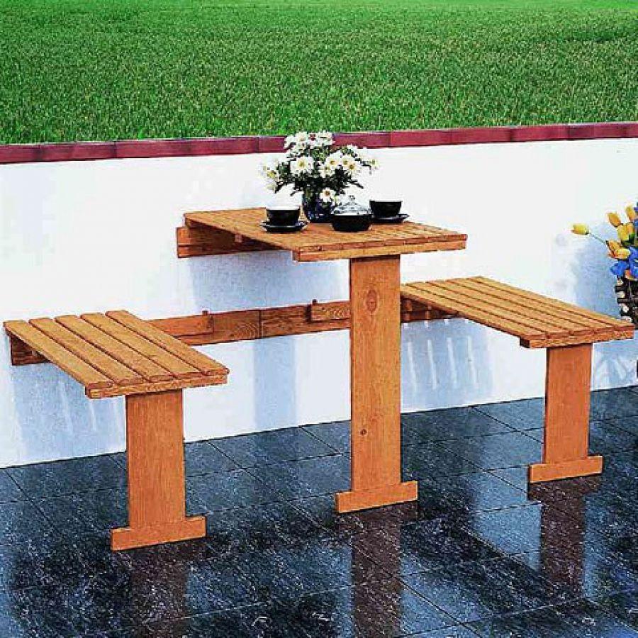 Table Pour Balcon Étroit balkongarnitur dayton (3-teilig) und einklappbar