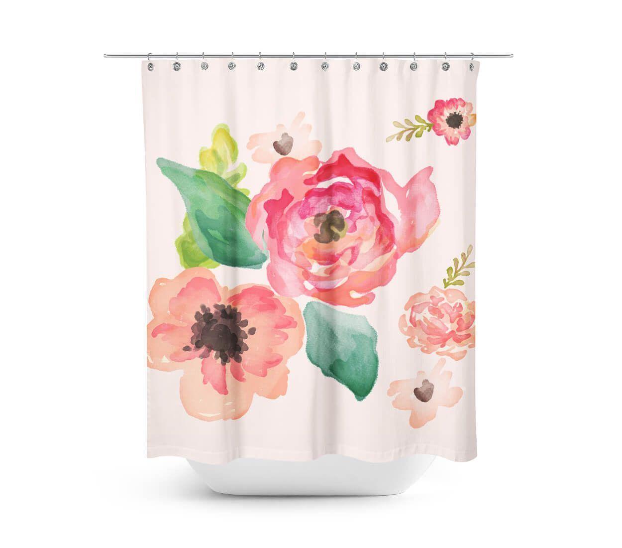 Floral Dreams Shower Curtain Floral Shower Curtains Dream Shower Unique Shower Curtain
