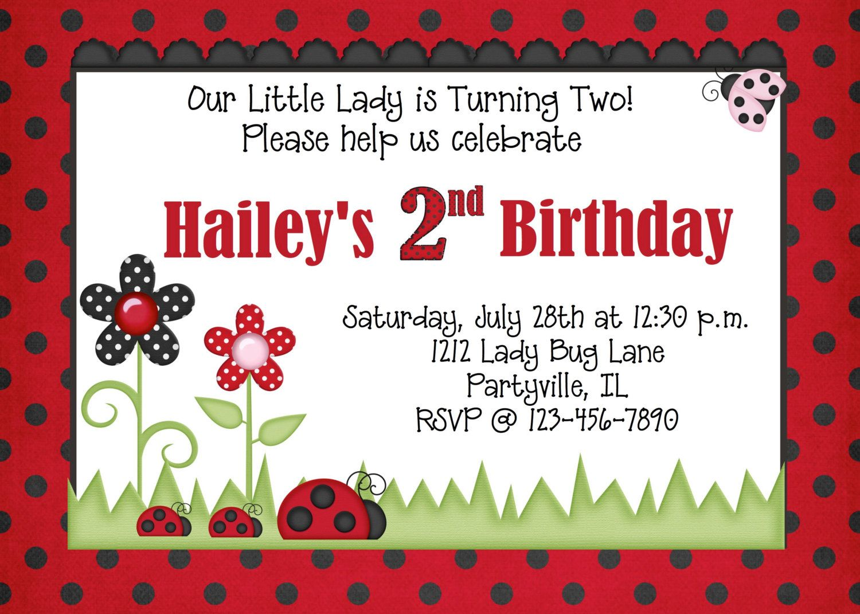 Lady Bug Birthday Party Invitation Printable. $10.00, via Etsy ...