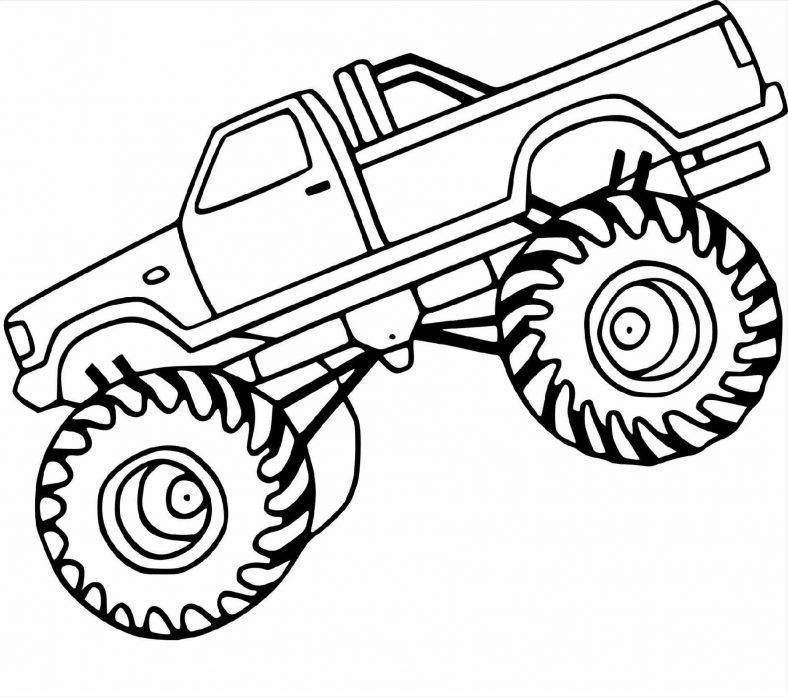 Monster Truck Coloring Pages Printable Monster Truck Coloring Pages Monster Truck Drawing Monster Trucks