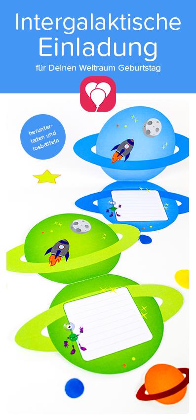 Photo of Intergalaktische Weltraum Einladung herunterladen – balloonas.com