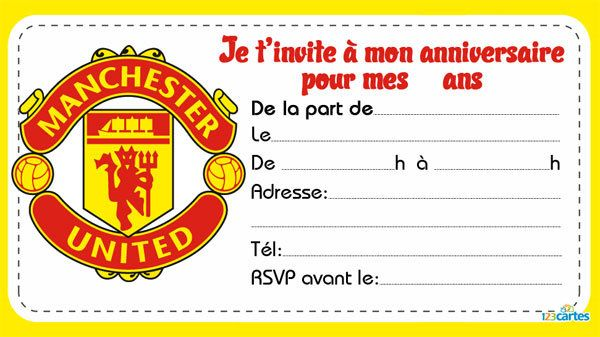 Fabuleux clubs de foot 2 | carte invitation | Pinterest | Carte invitation  ME76