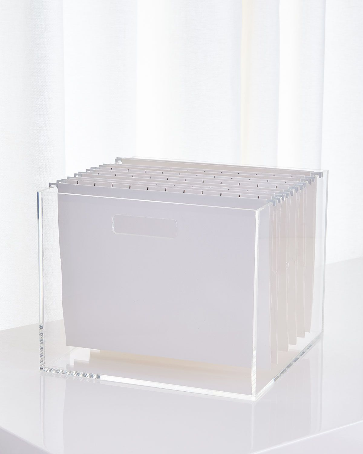 Acrylic Filing Storage Is Chic Enough To Have Out In Your Office!