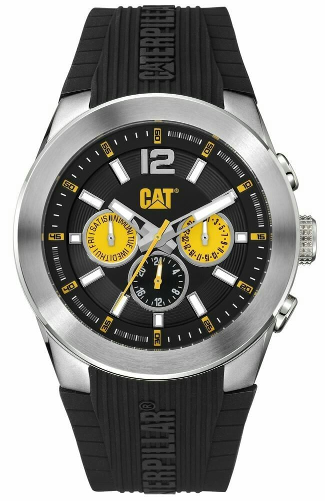 Mens Caterpillar CAT Black Rubber Wrist Watch (With images