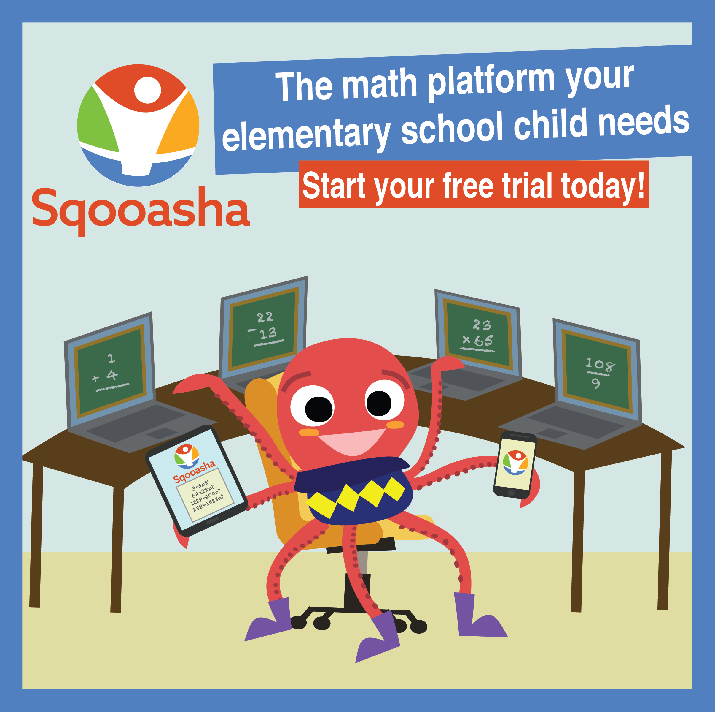 Sqooasha Is A Learning Platform On Which Children Connect