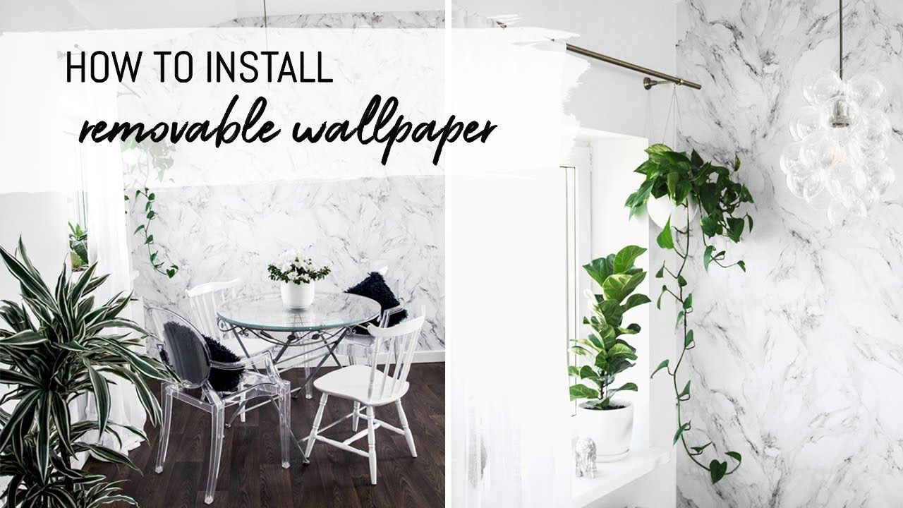 How To Install Removable Wallpaper Self Adhesive Wallpaper Diy Diy Wallpaper Removable Wallpaper How To Install Wallpaper