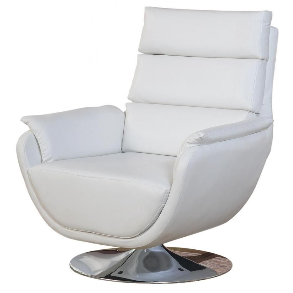 Syncro Faux Leather Swivel Accent Chair - Overstock™ Shopping ...