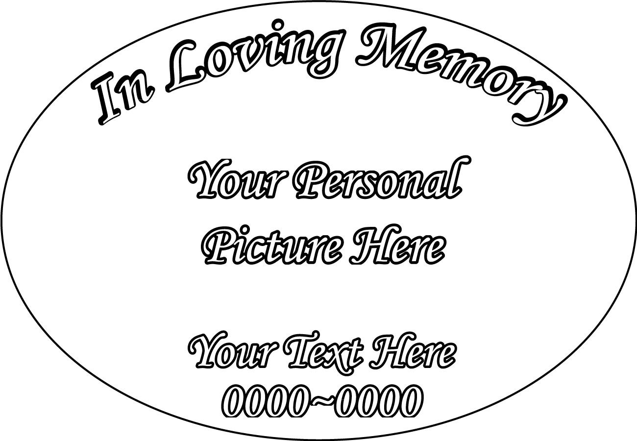 Custom Image In Loving Memory Full Color Circle Oval Custom Vinyl Wall  Decal or Car Sticker