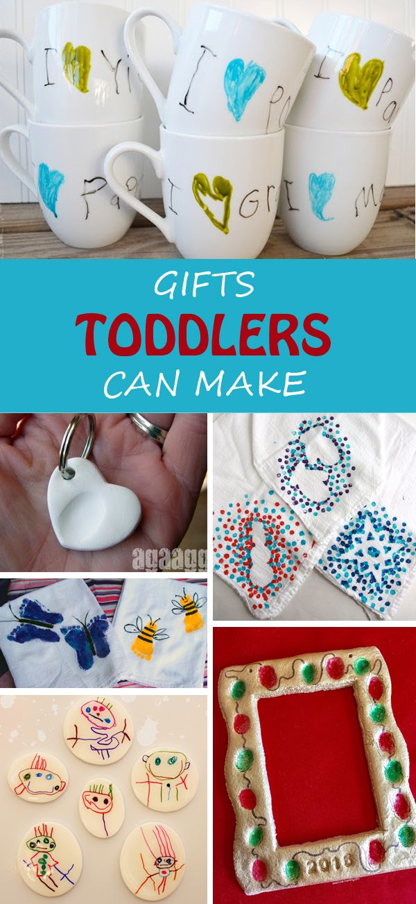 Delightful Toddler Christmas Craft Gift Ideas Part - 4: 20+ Gifts Toddlers Can Make This Christmas For Grandma, Grandfather,  Teachers Or Friends · Kids Christmas CraftsChristmas ...