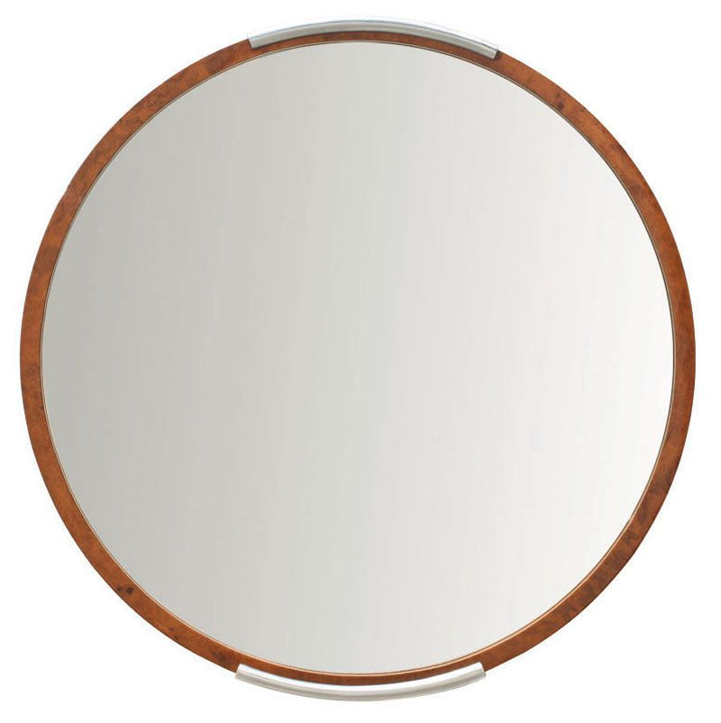 donald deskey; burr-walnut and aluminum mirror for deskey-vollmer, Innenarchitektur ideen