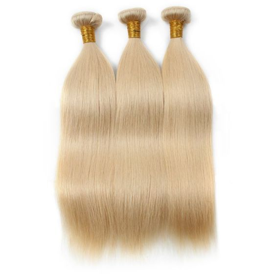 613 Color Blonde Cheap Good Quality Bundles Silk Straight Brazilian