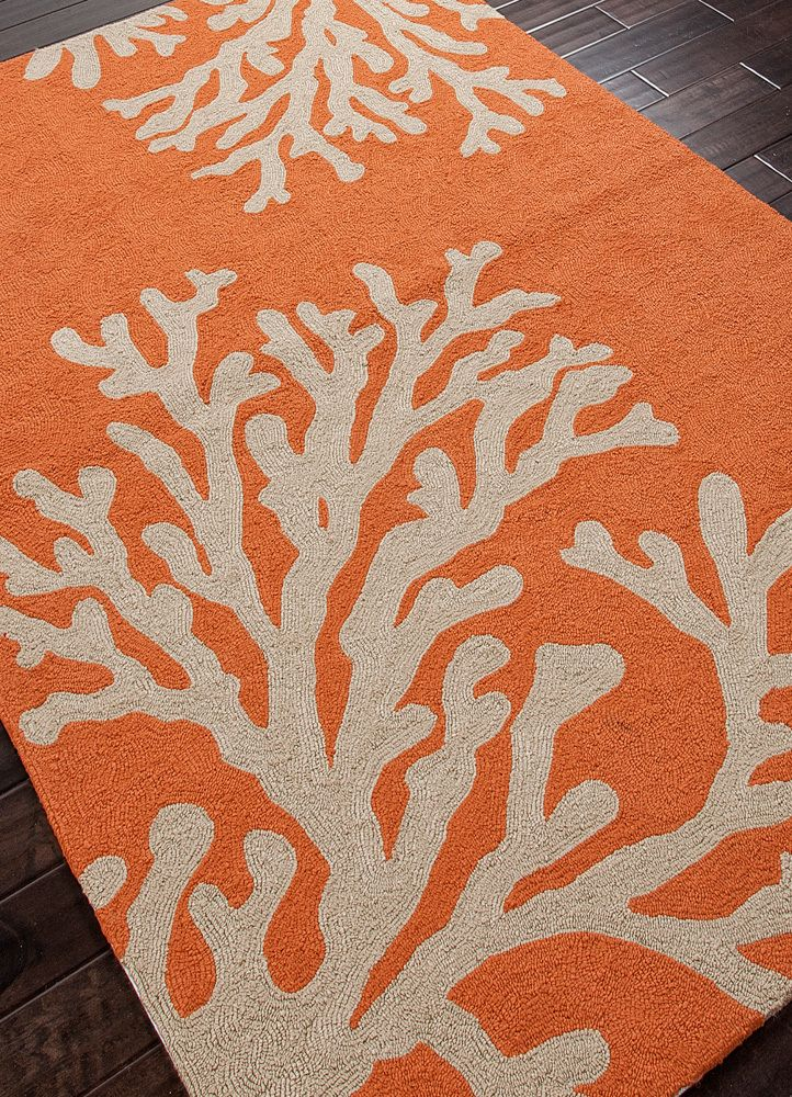 We Love The Boldly Scaled Design Of This Orange Coral Branch Out Area Rug,  Presented In A Sun Drenched Color Palette, Perfect For Warming Up An Indoor  Or ... Good Looking
