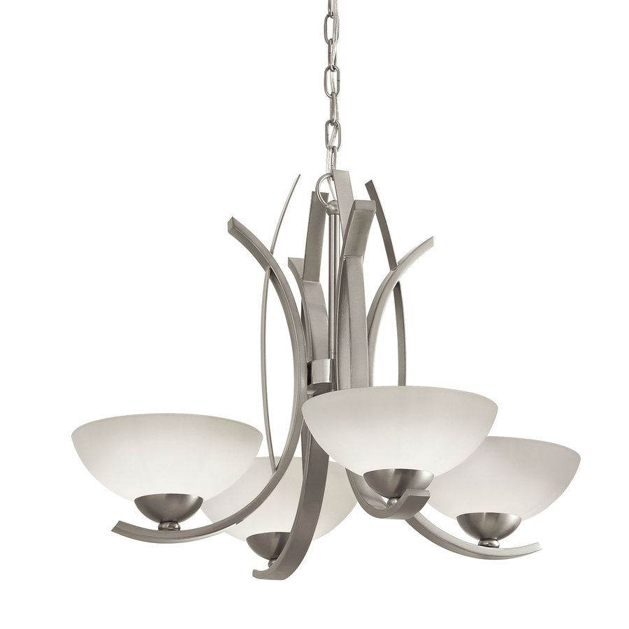 portfolio lebach brushed nickel chandelier for dining room - Brushed Nickel Dining Room Light