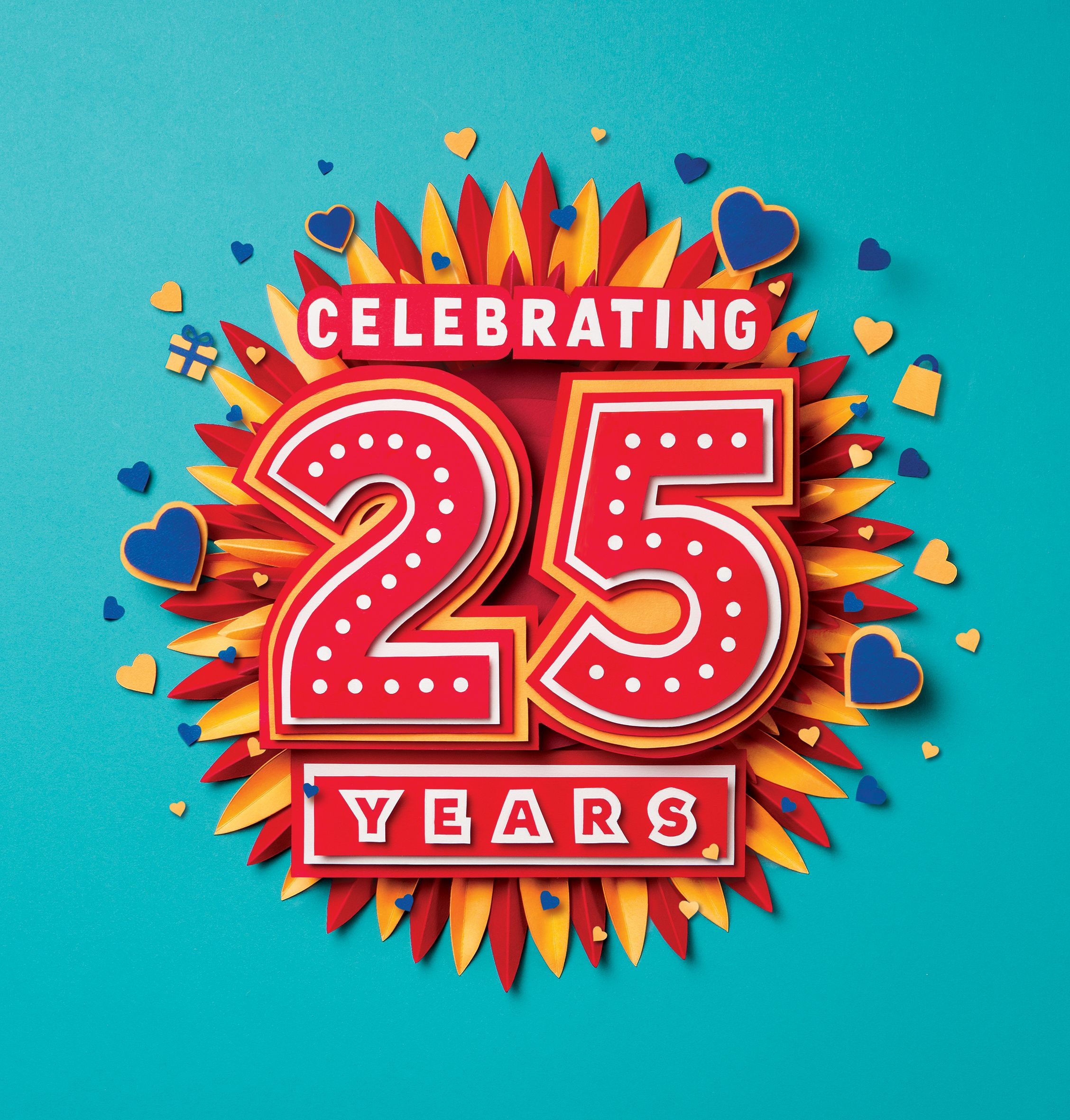 Meadowhall 25 Years Poster Design Paper Artwork Design