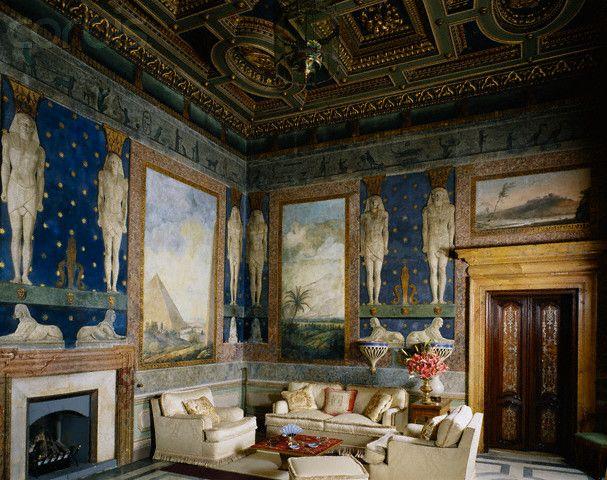 View of salon in palazzo massimo alle colonne rome high for Interior design roma