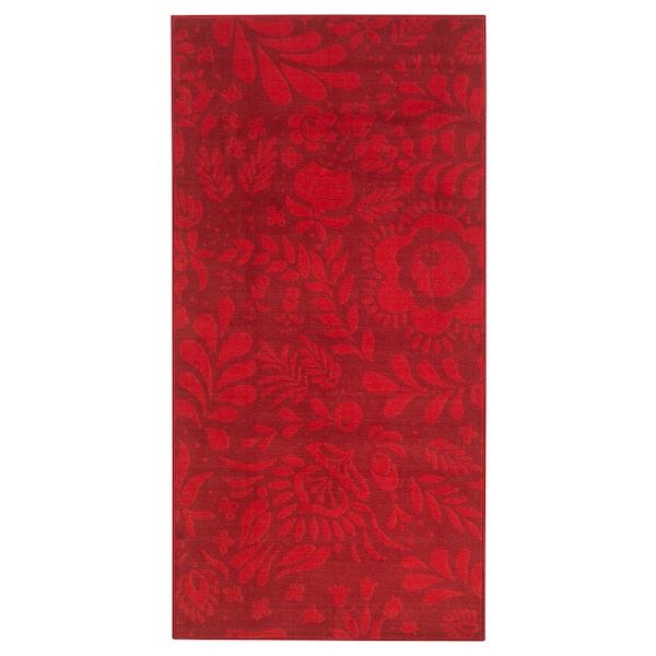 vinter 2019 tapis poils ras rouge