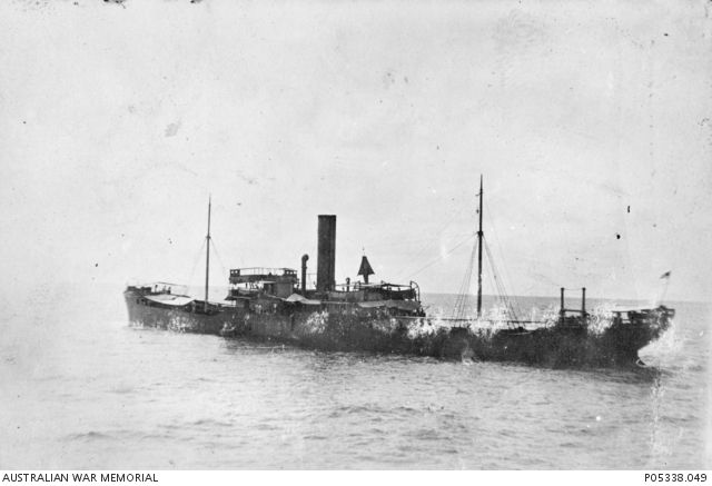 WWI, 11 March 1917. Port stern view of the 3509 ton British merchant ship,  Wordsworth, captured by the German armed merchant raider, S… | Ship,  Merchants, Steamship