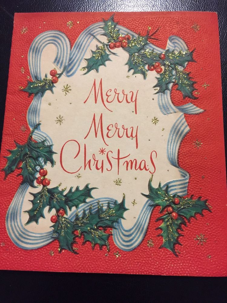 Beautiful vintage Christmas card from my mother\'s estate. Mid ...