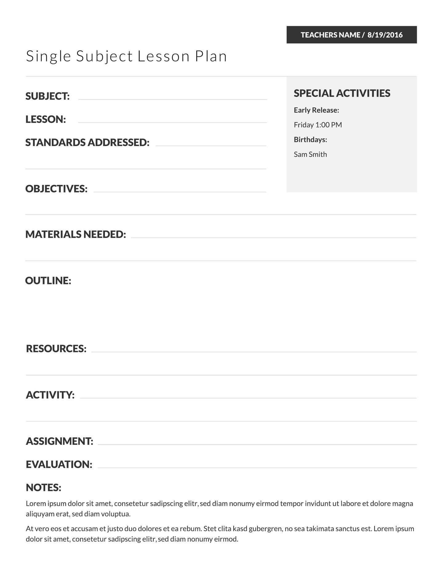 One Day Lesson Plan Template Elegant 18 Free Education Templates Teaching Mater Lesson Plan Templates Teacher Lesson Plans Template Lesson Plan Template Free One day lesson plan template