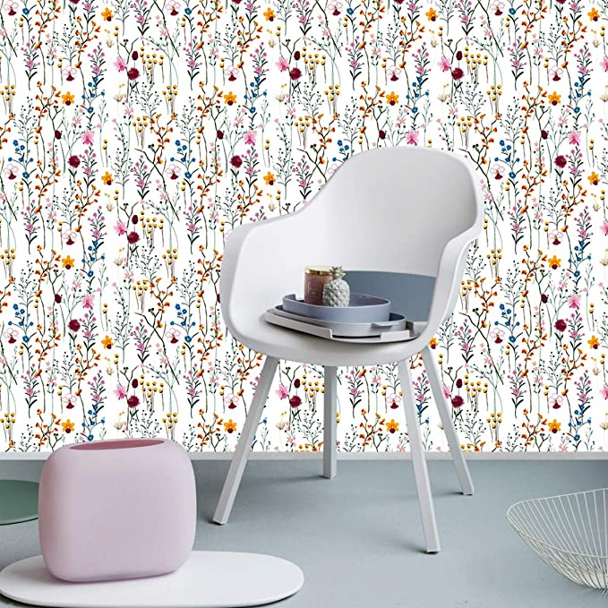 Belzesso Modern Floral Peel And Stick Wallpaper Self Adhesive Removable Wall Decor For Home Bedroom Walls Do In 2021 Home Bedroom Bedroom Wall Peel And Stick Wallpaper