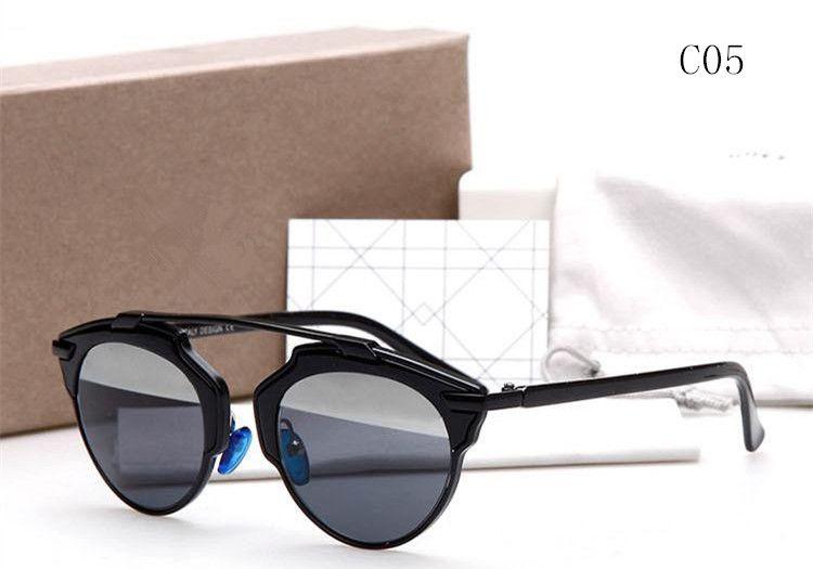 Vogue Brand designer metal frame black retro silver mirror lens so real sunglasses women oculos de sol feminino espelhado
