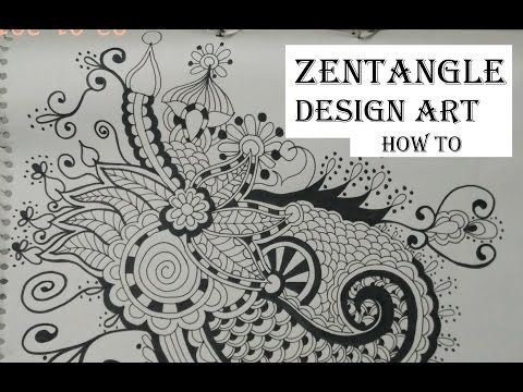 Easy Doodle Art Designs : How to draw complex zentangle art design for beginners easy