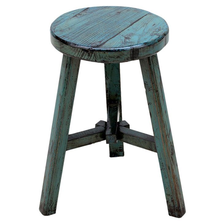 This Little Three Legged Stool Is A Classic Chinese Design, But Updated  With A Bright