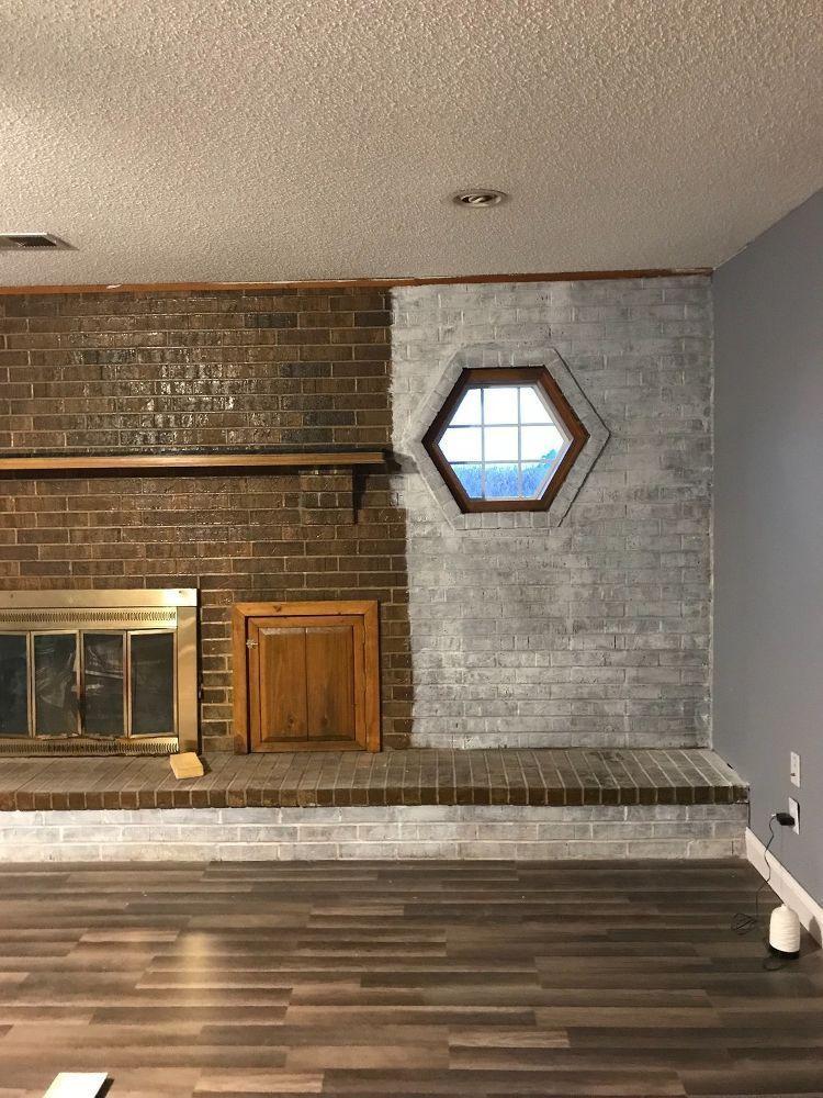 Whitewash Brick Fireplace Chalk Paint Accents Accents Brick Chalk Fireplace Accentsaccents Brick Chalk Firepl