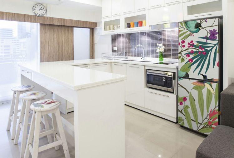 Originelle Tapeten Idee Fur Den Kuhlschrank Kuche Entwerfen Moderne Kuchendesigns Layout Design