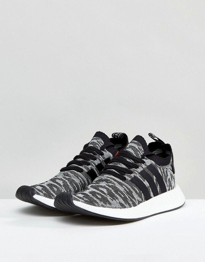 754c00fe4 adidas Originals NMD R2 Primeknit Sneakers In Black BY9409 - Black ...
